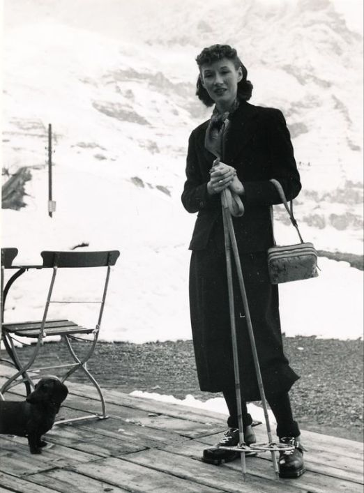 Millicent Rogers in the mountains.